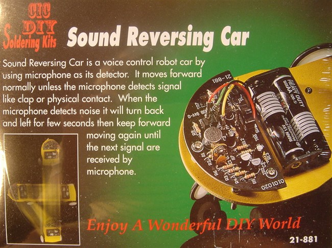 Car controlled by sound