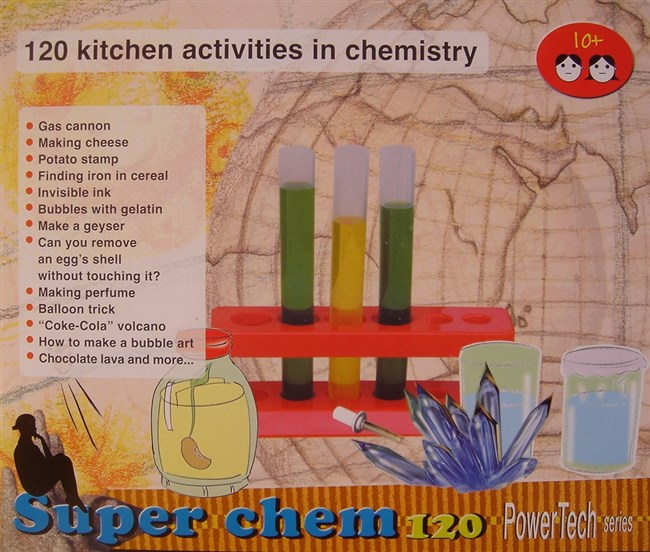 Chemistry kit with 120 activities