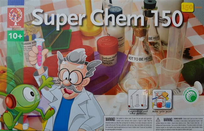Chemistry set with 150 experiments