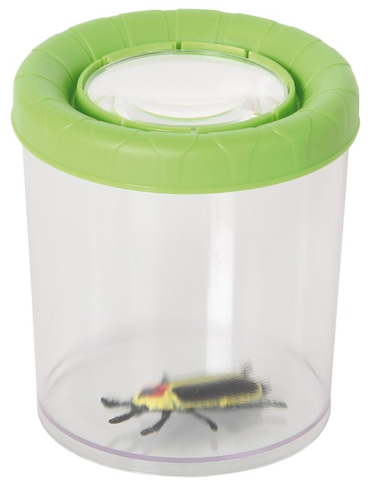 Large insect glass with magnifying glass