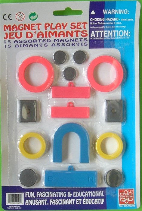 Magnet kit with 15 small magnets