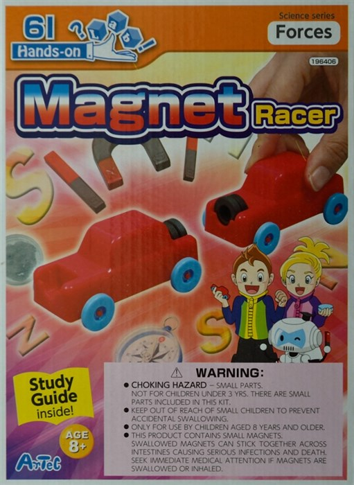 Magnet race car