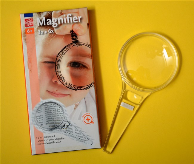 Magnifying glass - 3x, 6x, 60 mm