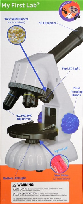 Microscope - 2 microscopes in one (duo-microscope)