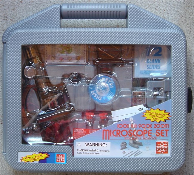 Microscope with case