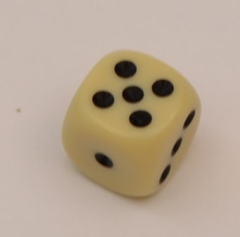 Ordinary dice with 6 sides