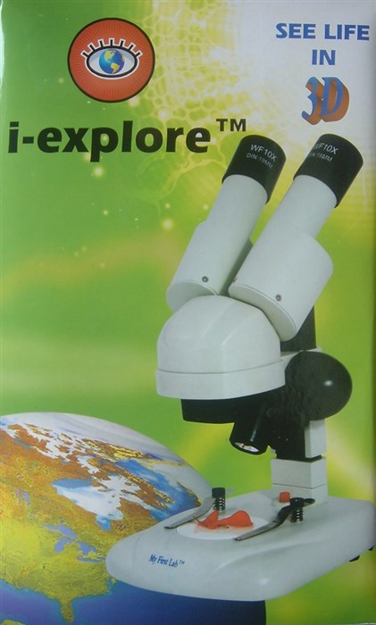 Stereo Microscope / stereo magnifier with LED light, 20x
