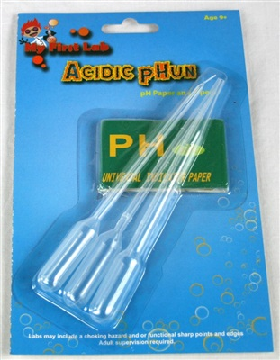 Pipettes and pH paper