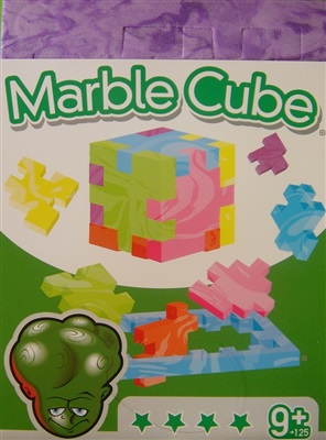 Purple Marble Cube - Albert Einstein