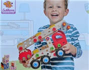 Heros 39085 construction kit in wood - Fire Truck