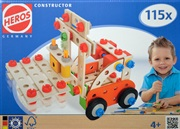 Heros 39032 construction kit in wood - Lift Truck